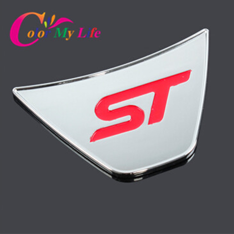 Hot Sport St Logo Steering Wheel Sequins Sticker ABS Chrome Cover Stickers Ford Fiesta Ecosport 2009 - 2015 Auto Accessories Pozel Car Shopping Maill Store store