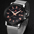 NAVIFORCE Relógios Correia de Aço Inoxidável Dos Homens Top Marca de Luxo Relógio de Quartzo Ocasional NF9052 Data Masculinos Relógios de Pulso relogio masculino