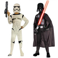 2016 Free Shipping Stars Star Wars Darth Vader Anakin Skywalker Children Adult Cosplay Party Costume Clothing