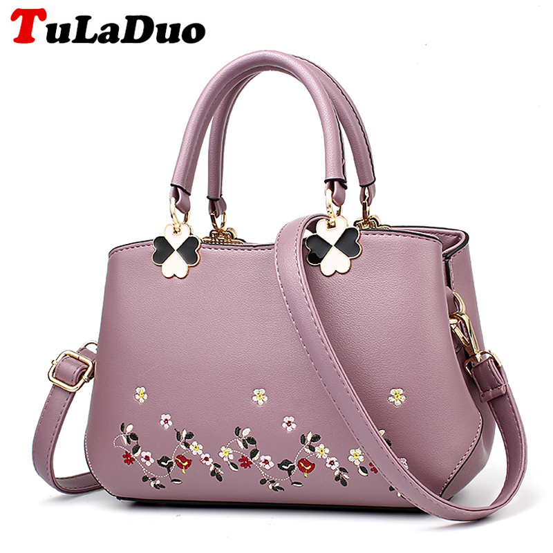 2017 Designer Handbags High Quality Leather Bag Women Fashion Embroidery Hand Bags Tote Shoulder Bag Small Ladies Casual Handbag high quality shoulder bags designer 2017 handbag ladies small chain shoulder bags women bag bolsas fashion women s handbags