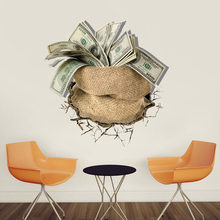 Removable dollar pattern stickers on the wall home wall decorations for living room