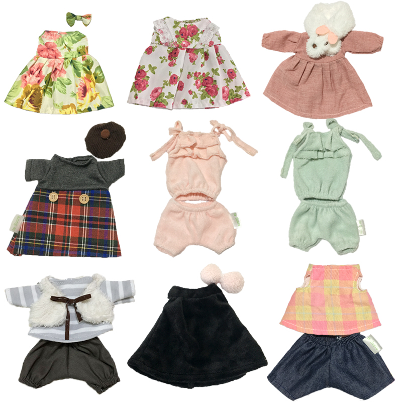 30cm Doll Clothes For Bunny Cat Bear Plush Toys Lovely Floral Dress Clothes Accessories For 1/6 BJD Dolls Children Girls Gifts