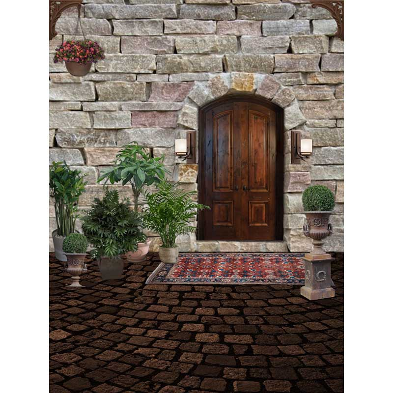 Customize washable wrinkle free stone wall wood old door photography backdrops for kids photo studio portrait backgrounds F-1548 custom washable wrinkle free texture door flowers photography backdrops for wedding photo studio portrait backgrounds cm 5235