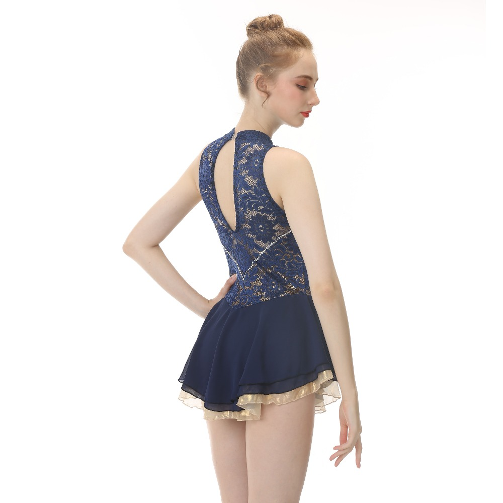 цены BHZW Custom Ice Skating Dress Graceful New Brand Figure Skating Dress For Competition