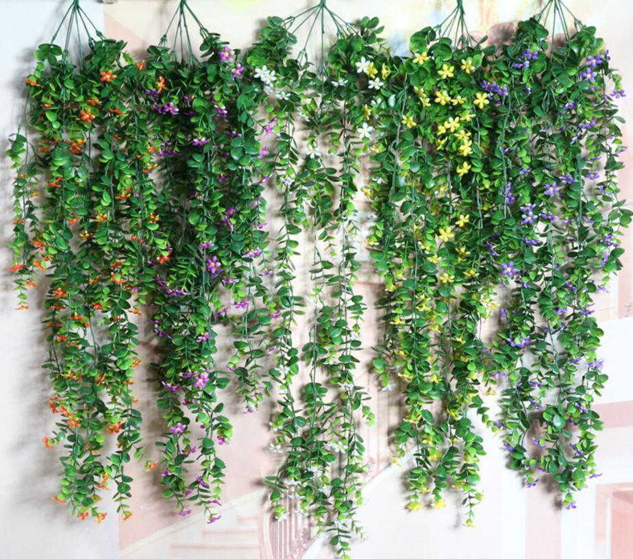 2pcs Artificial Hanging Eucalyptus Flower Vine Ivy Garland