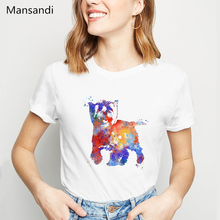 watercolor Cairn Terrier print t shirt women clothes 2019 harajuku femme vogue tshirt camiseta mujer tumblr tops tee
