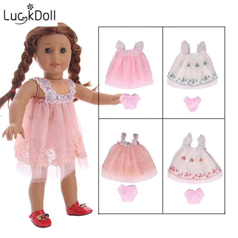Luckdoll New Lace Dress + Panties Fit 18-inch  And 43cm 18