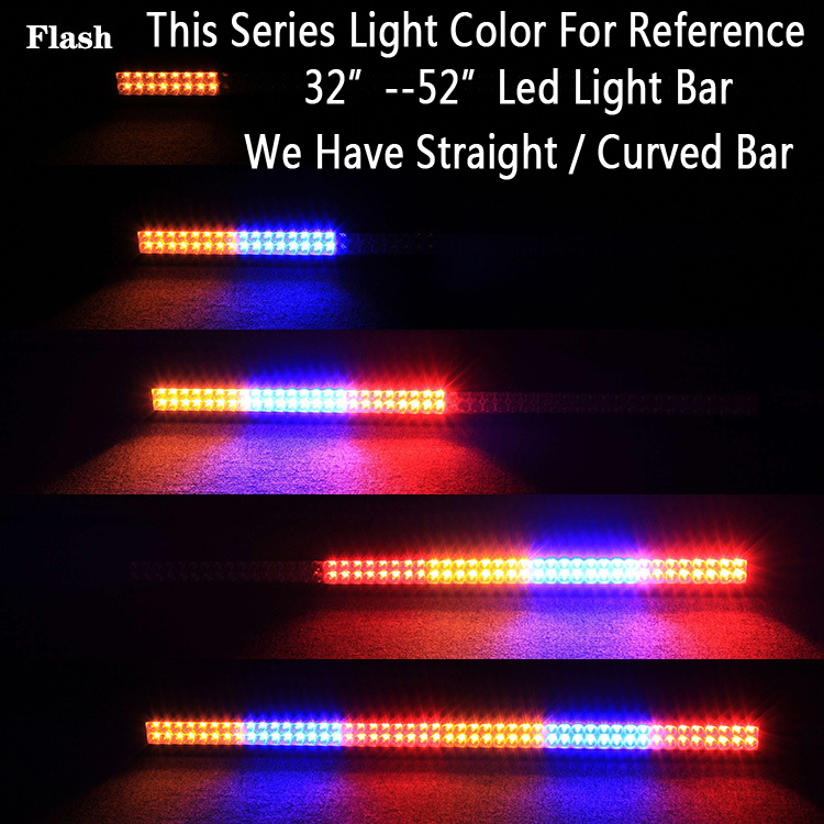 52 300w white amber red blue together strobeflash led work light 52 300w white amber red blue together strobeflash led work light bar curved signal for off road driving atv suv truck jeep 4x4 in light barwork light aloadofball Choice Image