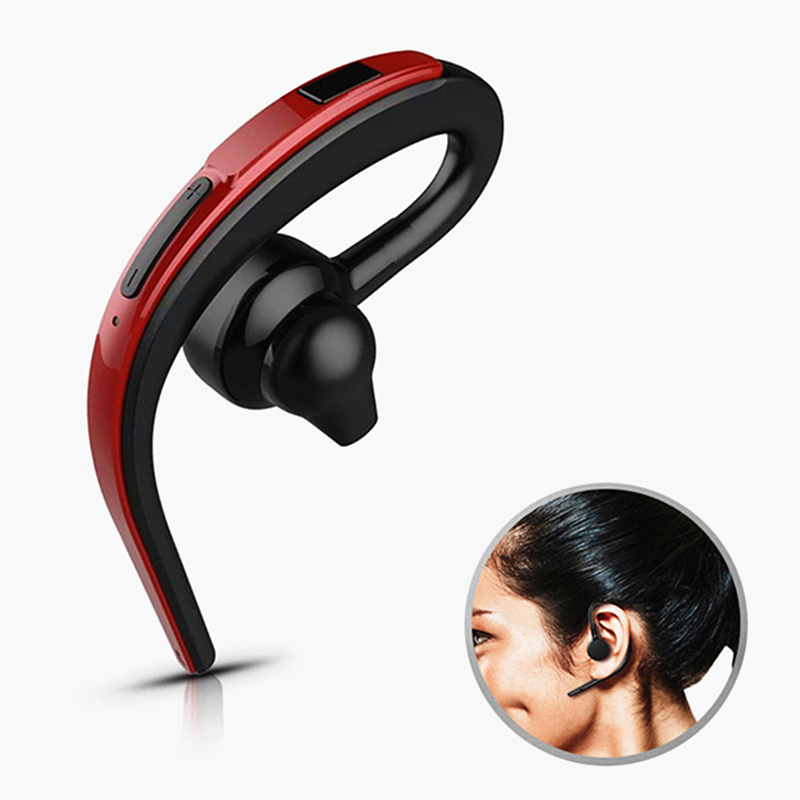 Handsfree Wireless Bluetooth Headset Business Earphone Noise Cancelling Sports Bluetooth Headphone with Mic Voice control Driver