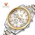 2016 NEWEST OUYAWEI GOLD mechanical watch Top Brand Luxury army sport stainless steel wrist watch for men skeleton reloj hombre