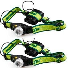 2 PCS Einstellbare helligkeit Hohe Qualität Zoomable 3 modi Mini Q5 LED Scheinwerfer Scheinwerfer Kopf Lampe Licht AAA
