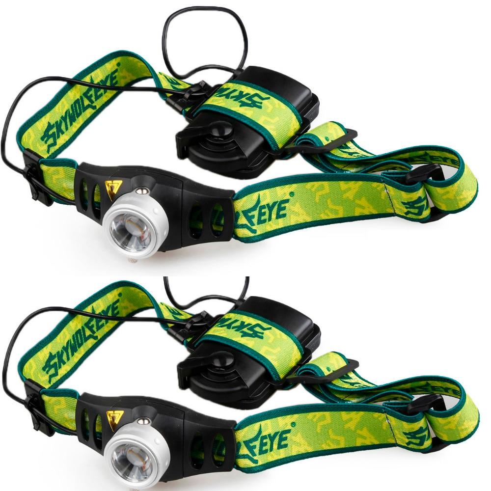 2PCS Adjustable Brightness High Quality  Zoomable 3 Modes Mini Q5 LED Headlight Headlamp Head Lamp Light AAA