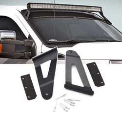 Mounts 52 inches Curved LED light Bar Upper Roof Brackets fits 2004-2014 Ford F150