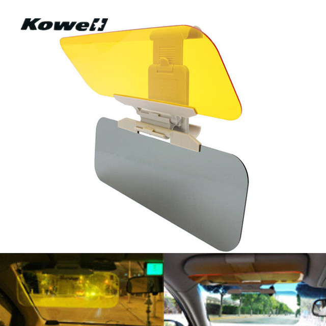 Universal Adjustable AntiGlare Anti Dazzling azzle Double Mirror Day Night Vision Light Shield Goggle Driving Mirror Sun Visor
