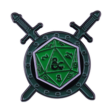 Fighter D&D badge tabletop RPG D20 pin Dungeon Master gift geeks decor