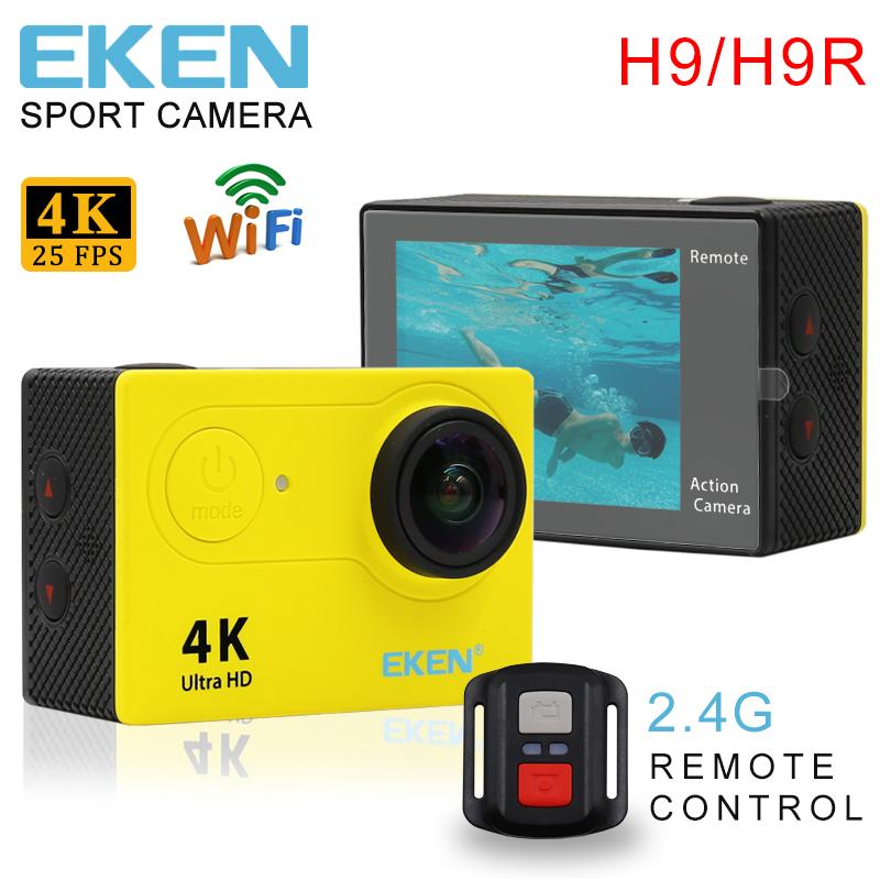 Prix pour Action Caméra D'origine EKEN H9/H9R À Distance 4 K Ultra HD WiFi1080P/60fps 170D lentille Casque Cam Aller étanche Pro Sport Caméra