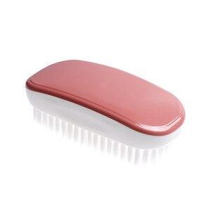 Image 5 - FOURETAW 1 sztuka niebieski różowy użytku domowego typu miękkie futro szczotka do czyszczenia butów wygodna szklana podłoga grill toaleta ubrania szczotka do czyszczenia