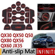 Противоскользящими резиновыми затворный слот коврик для Infiniti Q50 QX30 QX50 QX56 QX80 JX35 QX60 аксессуары наклейки 2010 20012