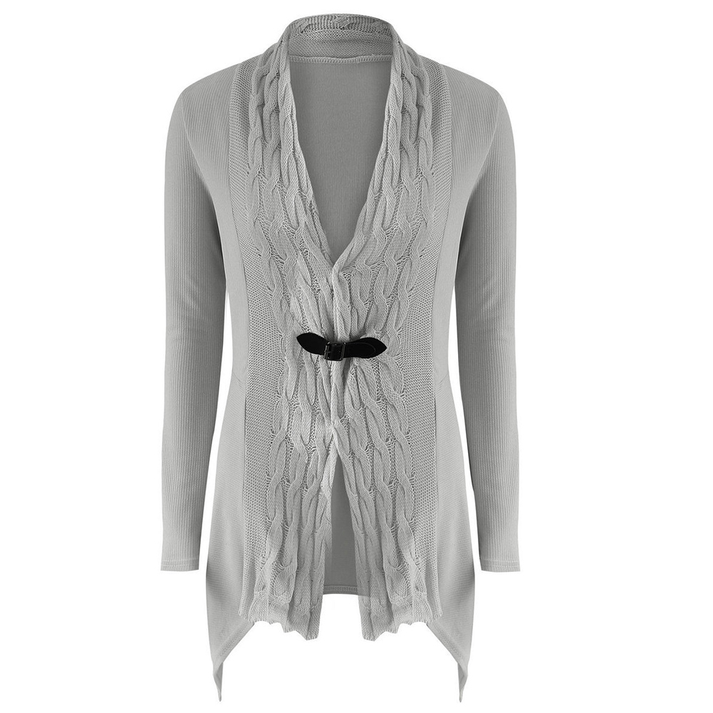 New Fashion Cardigan Long Knitted Sweater Solid Color Slim Women Cardigans Party Clothing
