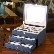 Роскошная коробка для очков 24 чехол для солнцезащитных очков коробка для хранения часы и стенд для ювелирных украшений витрина из искусственной кожи