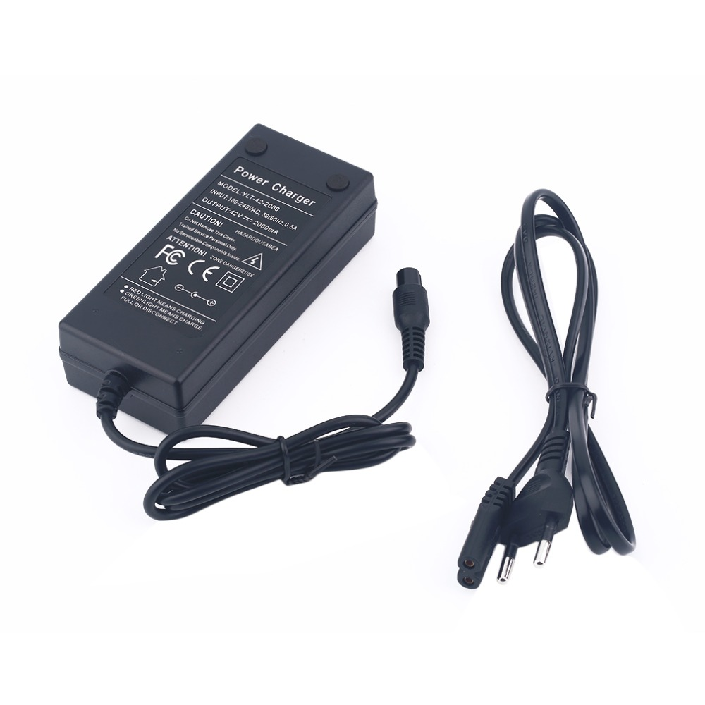 Wholesale EU Plug <font><b>42V</b></font> 2A Balance Charger Power Supply <font><b>Adapter</b></font> for self balancing scooter image