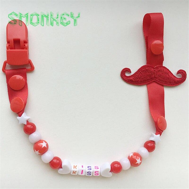 Misai lucu Baby Pacifier Clips Rantai bayi Teether Soother mainan - Memakan kanak-kanak - Foto 6