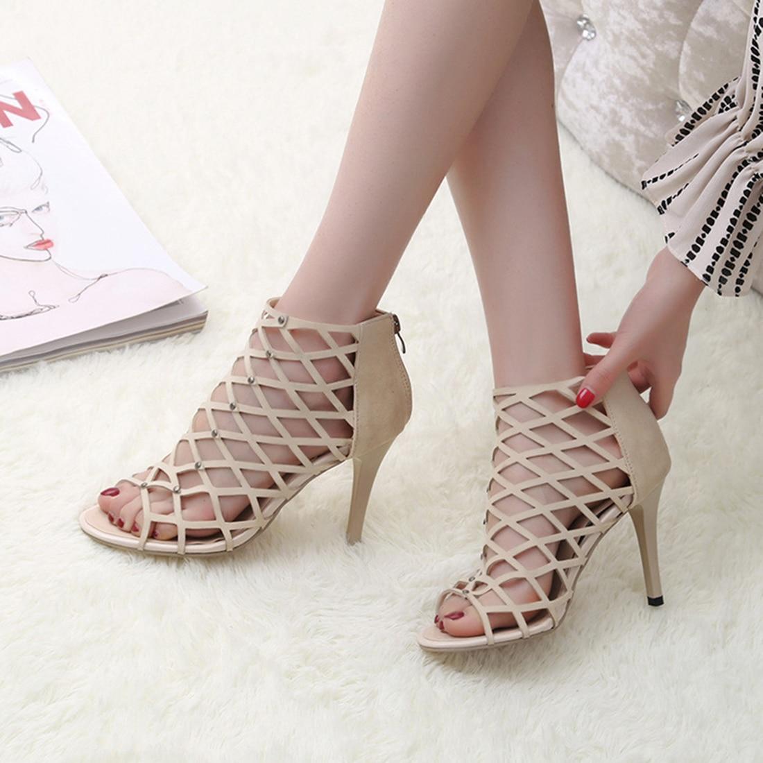 Fashion Gladiator High Heels women Sandals Genova Stiletto ...