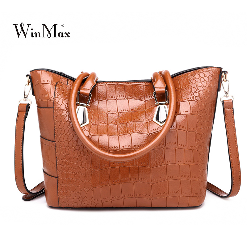2018 Women Totes Famous Brand Designer Luxury Leather Handbags Women Messenger Bag Ladies Shoulder Bags Crocodile Bag Handbag