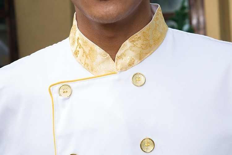 Осеннее платье с длинными рукавами куртка шеф-повара ресторана отеля Кофе магазин Дракон кулинарная одежда Китайский Еда Услуги Кухня одежда Униформа 89