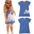2-6 años de algodón vestido de los niños vestidos para niños niñas vestido de verano con un pequeño conejo niñas ropa lote venta al por mayor
