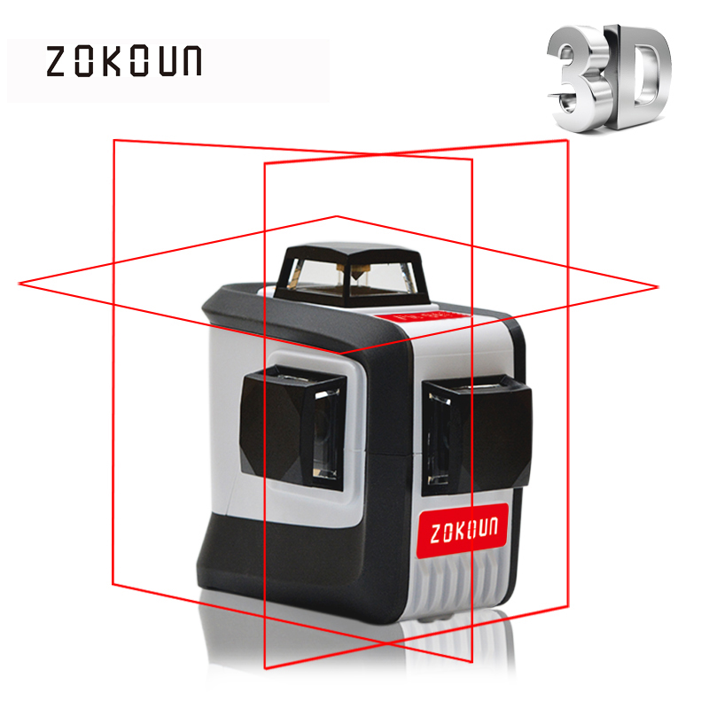 ZOKOUn CE certificated 3D lines Self Leveling 360 Horizontal And Vertical Cross Super Powerful Red Laser