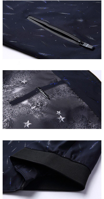 KMETRAM Giacca Uomo Casual Slim Mens Jacket Handsome Bomber Jacket Mens giacche e Cappotti Più Il Formato 3XL Jaqueta Masculina HH834 - 5
