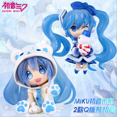 NEW hot 8cm snowman neve Miku Hatsune Miku Nendoroid Mini Action figure toys collection doll with box