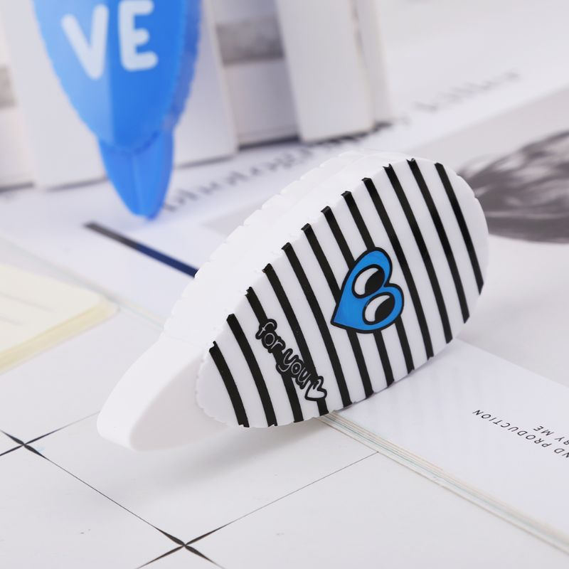 2pcs Love Heart Roller Correction Tape Stationery Office School Student Supplies