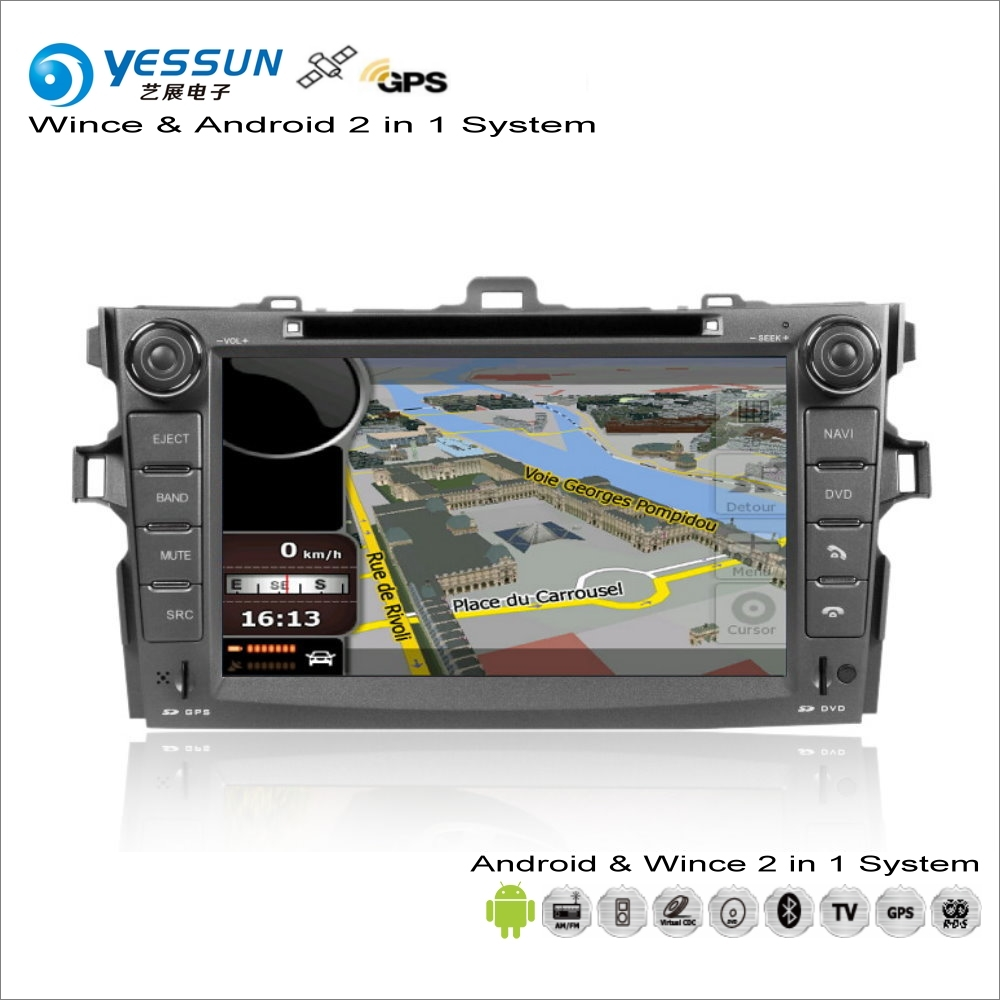 YESSUN For <font><b>Toyota</b></font> <font><b>Corolla</b></font> Axio / E140 <font><b>E150</b></font> 2006~2013 Car Android Stereo Radio CD DVD Player GPS Navi Map Navigation Audio Video image