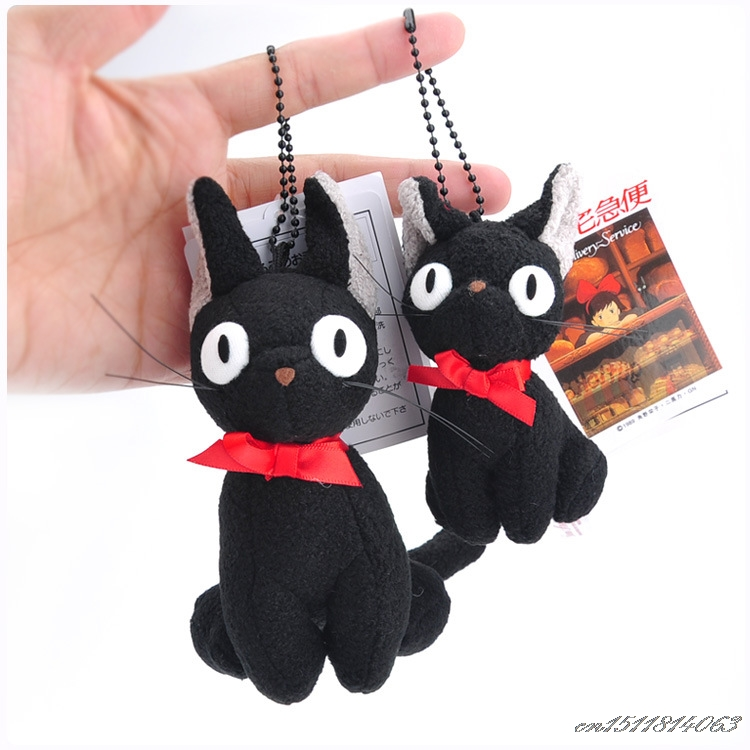 SJFC Kawaii Studio Ghibli Hayao Miyazaki Classic cartoon image Kiki's Delivery Service JiJi Cat Plush Stuffed Doll