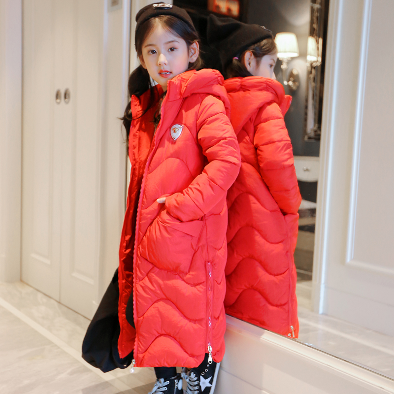 In the long winter girls new children down thick cotton children s 2017 winter new children s down jacket big girls in the korean version of the girls down jacket long thick coat