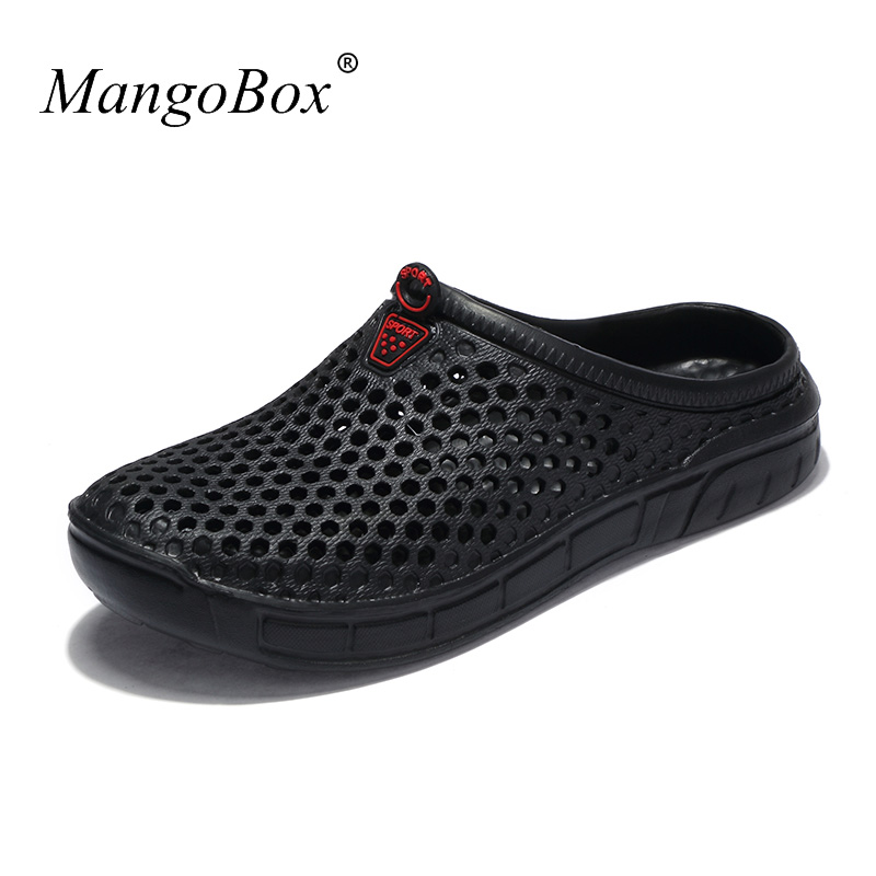 2018 Brand Men Sandals Lightweight Male Shoes Slip-on Slippers Massage Summer Men Shoes Breathable Cheap Beach Slippers Wedge