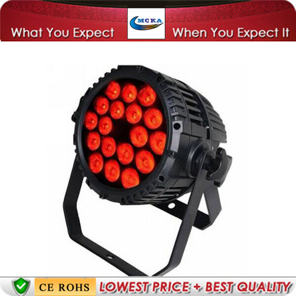 8Pcs/Lot 18*10W IP 65 WATERPROOF LED PAR Disco Par Lighting DJ LED Par Lighting