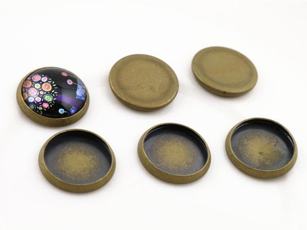 20pcs 12mm Inner Size Bronze Plated Brass Material Simple Style Cabochon Base Cameo Setting Charms Pendant Tray (A1-14)20pcs 12mm Inner Size Bronze Plated Brass Material Simple Style Cabochon Base Cameo Setting Charms Pendant Tray (A1-14)