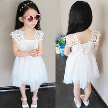 New arrival Summer Baby Girl Dress 2016 New Princess 2-9T Dress Baby Girls Party for Toddler Girl kids voile dresses Clothing