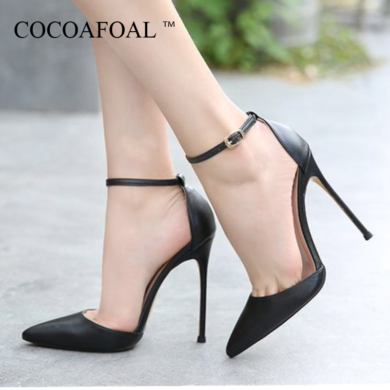COCOAFOAL Summer Womens High Heels Sandals Plus Size 33 - 43 Woman Wedding High Heels Sandals Black Sexy Summer Buckle PumpsCOCOAFOAL Summer Womens High Heels Sandals Plus Size 33 - 43 Woman Wedding High Heels Sandals Black Sexy Summer Buckle Pumps