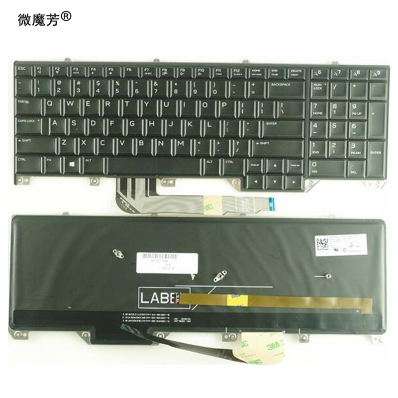 Selfless Us Black New English Keyboard For Dell Alienware M17 17 R4 R5 Backlight