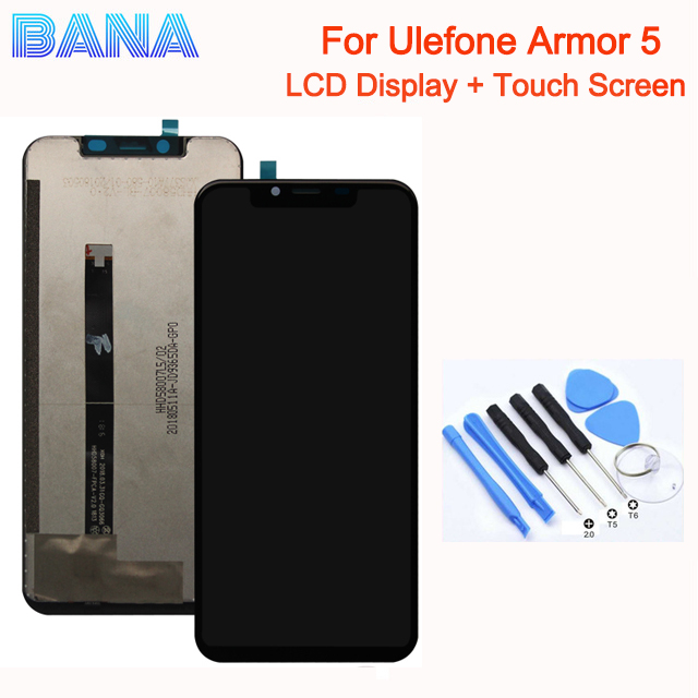 Original Ulefone Armor 5 LCD Display + 5.85-inch Touch Screen Digitizer Screen Glass Panel Assembly Replacement