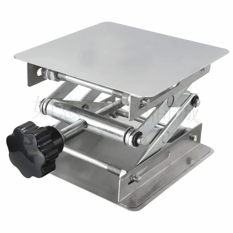 Stainless Steel Adjustable Drill Lift Laboratory Lifting Platform Table Bench <font><b>Lifter</b></font> <font><b>Router</b></font> Shank Height Woodworking Lab Jack image