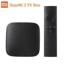Original xiaomi mi tv box andriod 3 smart media player 4 k tv Set-top Box MiBox Amlogic S905 1G RAM 4G Quad Core Soporte 5G Wifi