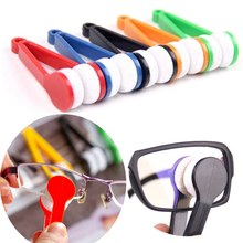 Portable Multifunctional Glasses Cleaning Rub Eyeglass Sunglasses Spectacles Microfiber Cleaner Brushes Wiping Tools Mini 1 pcs(China)
