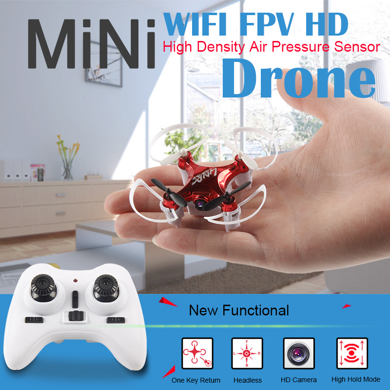 2016 New WIFI FPV  Mini Drone with Camera 2.4G 4CH 6-axis RC Quadcopter Nano Drone RC WIFI FPV Drone Phone Control Toy jjr c jjrc h43wh h43 selfie elfie wifi fpv with hd camera altitude hold headless mode foldable arm rc quadcopter drone h37 mini
