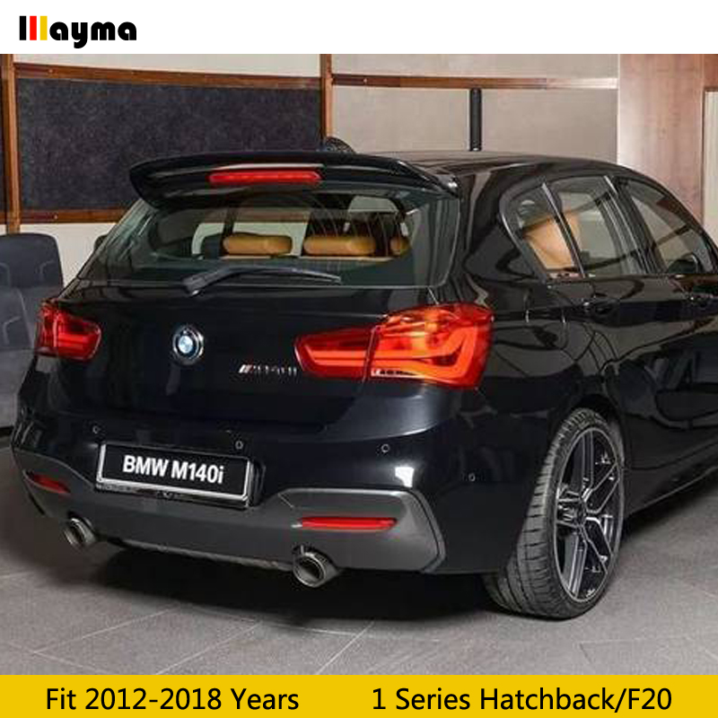 Ac Style Fiber Glass Roof Wing Spoiler For Bmw 1 Series Hatchback