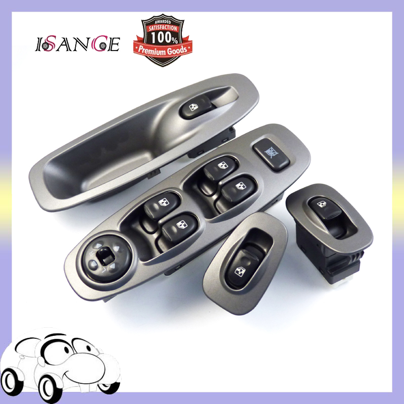 ISANCE 4pcs Master Front Left Right 2x Rear Door Power Window Switch Control Fit Hyundai Accent